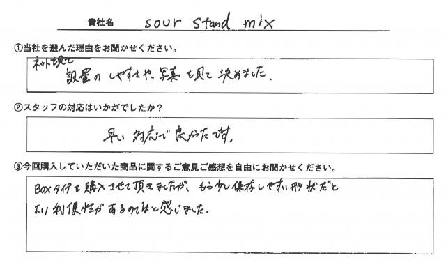 sour stand mix様 テーブルクロス アンケート